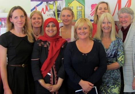 Judy McFarlane visits Next link to exchange ideas