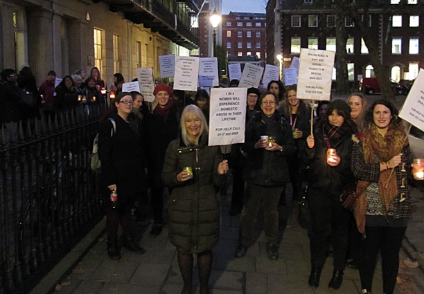 Our annual candle lit vigil generated an increase in women seeking help